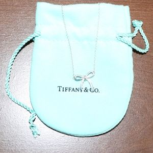 Tiffany & Co Sterling Silver Bow Necklace
